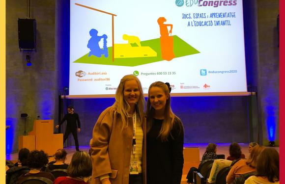 """Congresso """"Brincadeiras, espaços e aprendizagens na Educação Infantil e Primária"""" em Barcelona."""